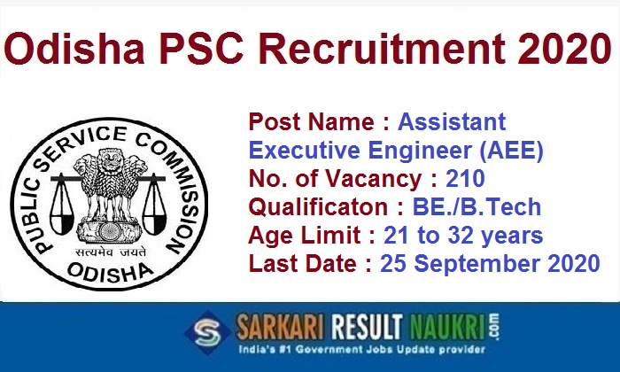 OPSC AEE Recruitment 2020